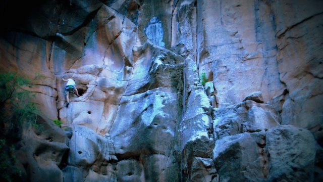 Climbing in El Cenobio