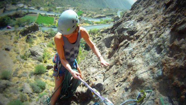 Multipitch climbing Ayacata