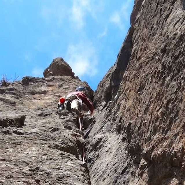 Traditional climbing