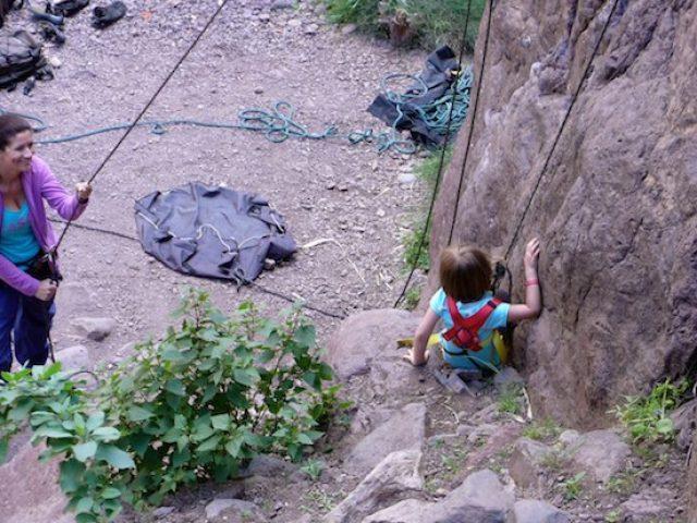 Familje klättring