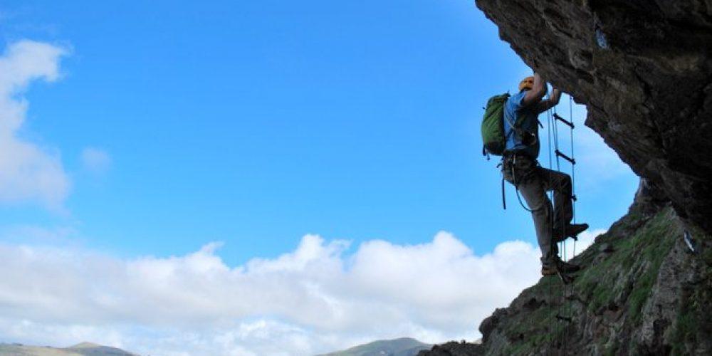 Climbing Via Ferrata La Guagua, Gran Canaria